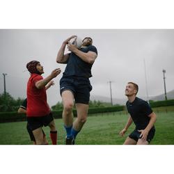 Camiseta de entrenamiento de rugby adulto Perf Tee R500 azul