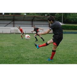 Pantalón corto de rugby hombre R500 negro rojo