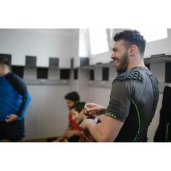 成人款橄欖球肩胸墊900 - 灰綠配色