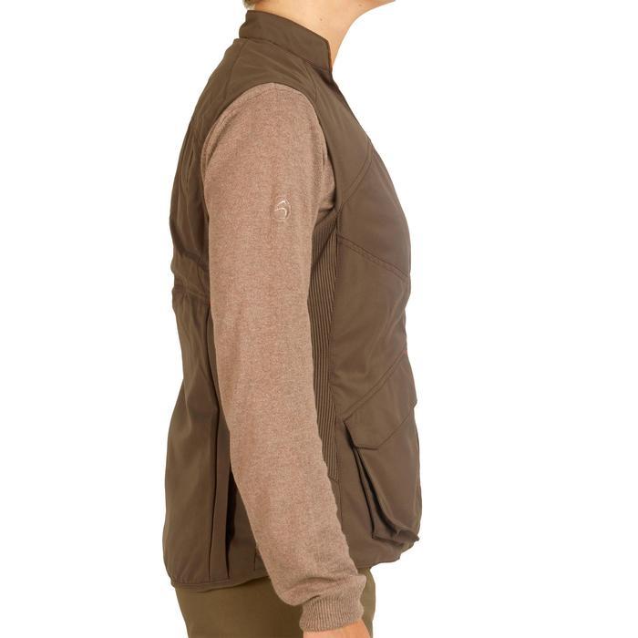 Omkeerbaar jagersvest 500 voor dames bruin / fluocamouflage