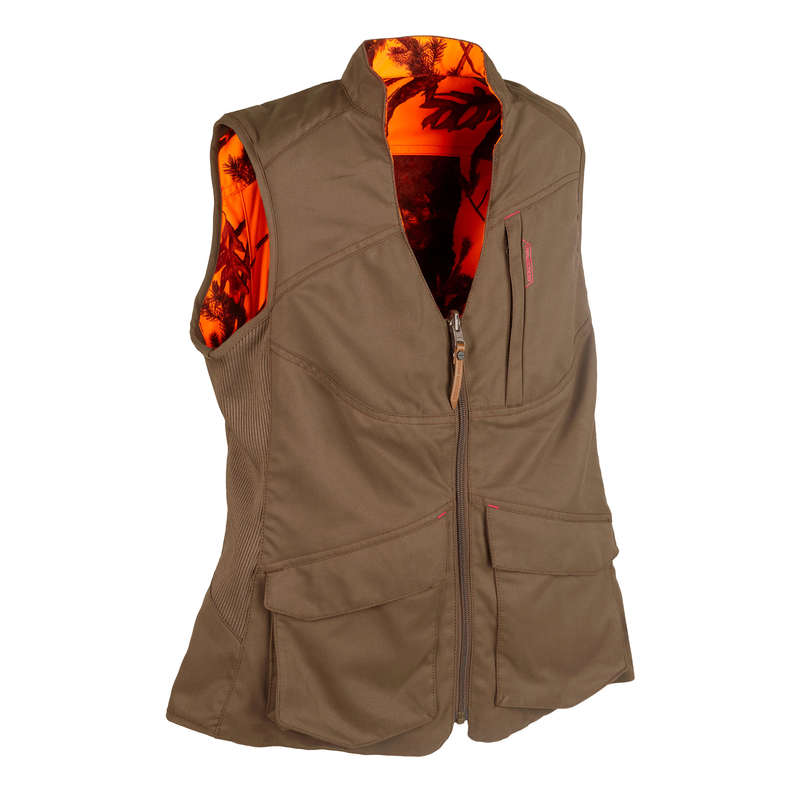 HUNTING WOMEN CLOTHING Shooting and Hunting - Women's Reversible Gilet 500 SOLOGNAC - Hunting and Shooting Clothing