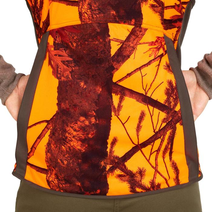 Jagdweste 500 Wendefunktion Damen braun/camouflage orange