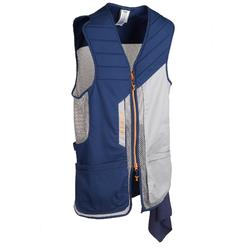 GILET BALL TRAP 500 CONFORT BLEU