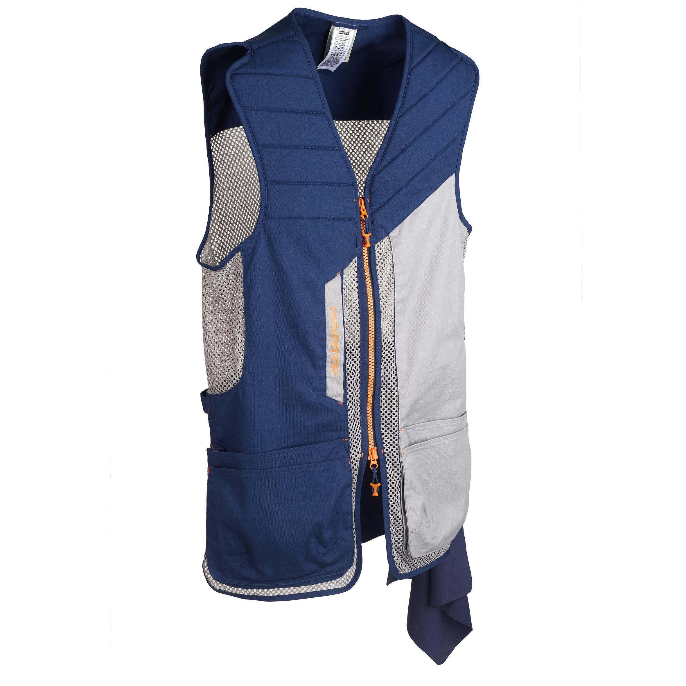 Zoek je Solognac Sportkleding heren Bovenkleding heren Heren /Dames? Solognac Vest kleiduifschieten 500 BLAUW/GRIJS maat  XL het voordeligst hier