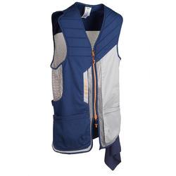 Vest voor kleiduifschieten 500 blauw