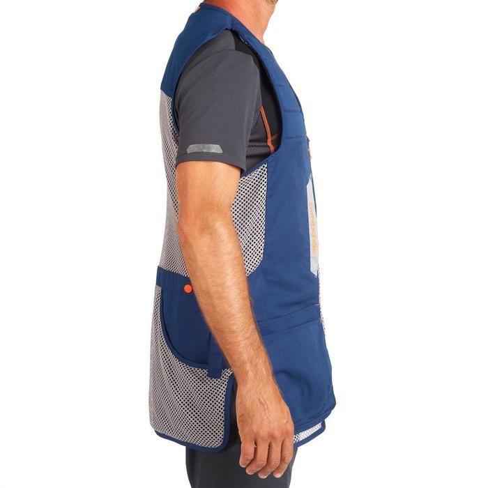 Vest voor kleiduifschieten 500 Comfort blauw