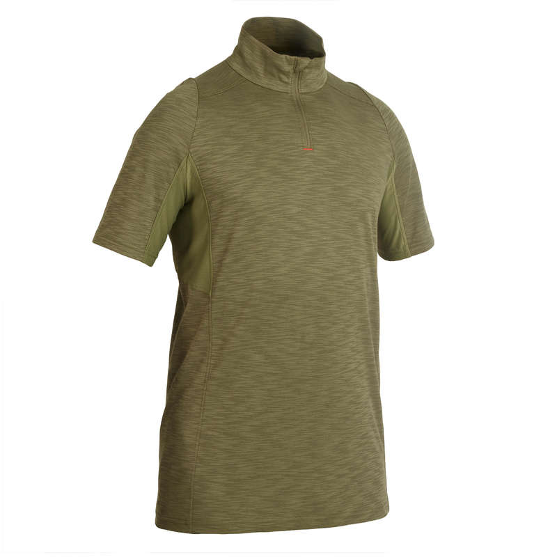 LIGHTWEIGHT CLOTHING Shooting and Hunting - 500 SS T-Shirt - Green SOLOGNAC - Hunting and Shooting Clothing