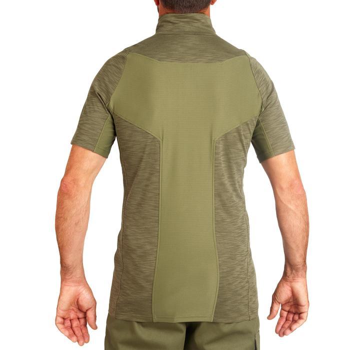 T-shirt manches courtes léger et respirant chasse 500 vert