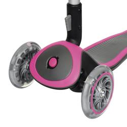 Patinete Scooter Globber Niños Luces de Colores Rosa