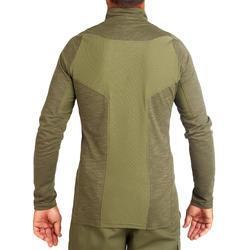 Jagdshirt 500 langarm leicht atmungsaktiv grün