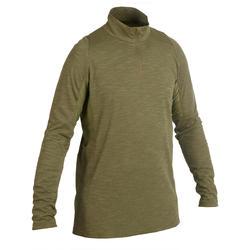 Camiseta Caza Solognac Sg 500 Manga Larga Ligera Transpirable Verde