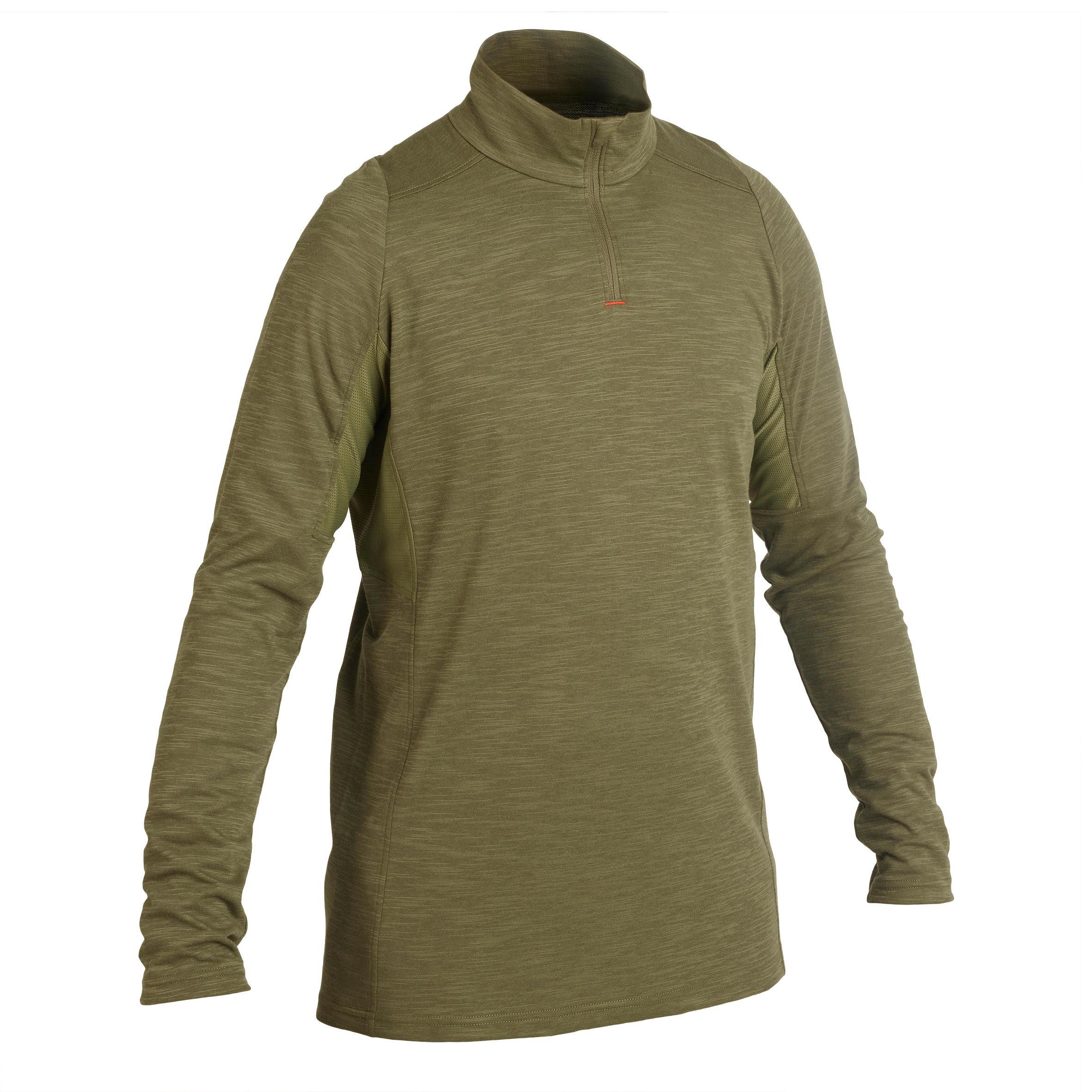 Solognac Licht en ademend jagersshirt met lange mouwen 500 groen