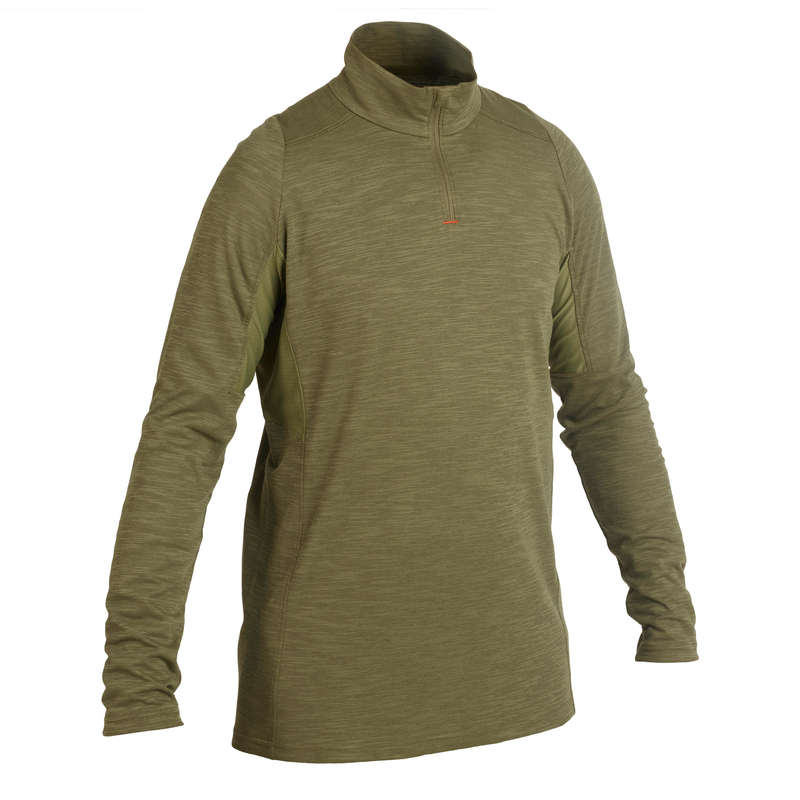 LIGHTWEIGHT CLOTHING Shooting and Hunting - T-shirt 500 LS Green SOLOGNAC - Hunting and Shooting Clothing
