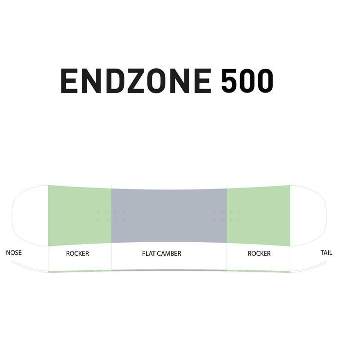 Snowboard All Mountain Freestyle Endzone 105cm Kinder gelb/schwarz/blau