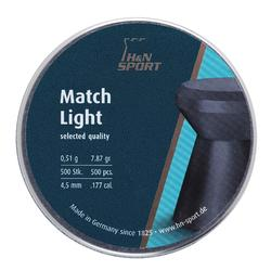 Perdigones Tiro Deportivo H$N Match Light Calibre 4,5 mm 500 Unidades