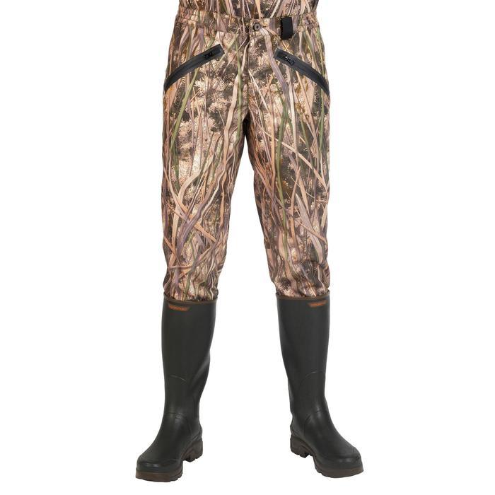 Jagdhose 500 wasserdicht Camouflage Schilf