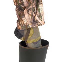 Pantalón Caza Solognac WF500 Impermeable Camuflaje Marismas