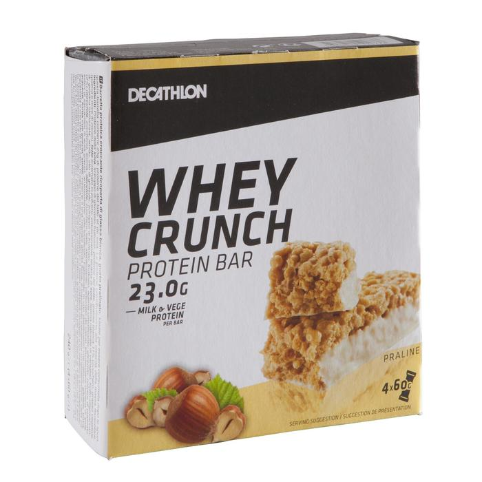 Barrita Proteica Triatlón Domyos Whey Crunch Protein Bar Praliné 4 X 60 G