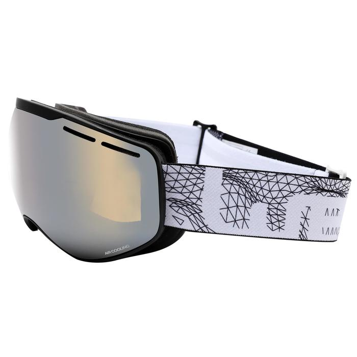 CHILDREN'S AND ADULTS' GOOD WEATHER SKI &SNOWBOARDING GOGGLES G 900 - ASIA BLACK