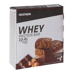 Barrita Proteica Triatlón Domyos Whey Protein Bar Chocolate Caramelo 4 X 60 G