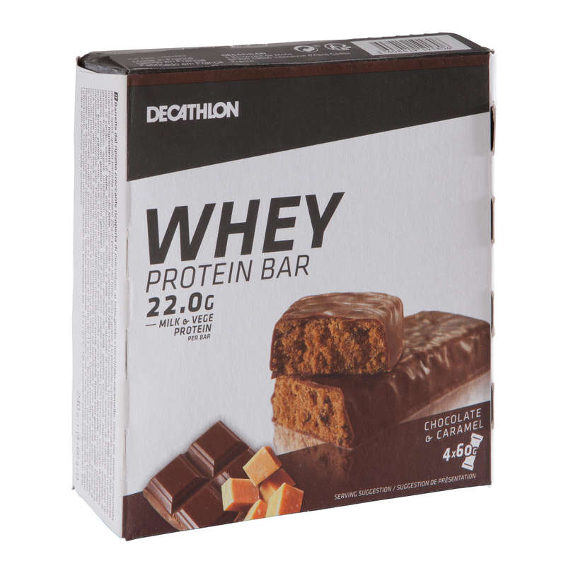 PROTEINS AND SUPPLEMENTS Supplements - Protein Bar Choco-Caramel Pack DOMYOS - Energy Supplements