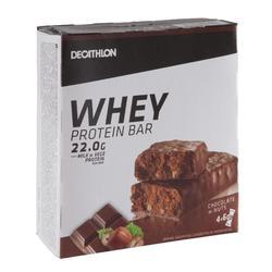 Barrita Proteica Triatlón Domyos Whey Protein Bar Chocolate Avellana 4 X 60 G
