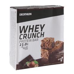 Barrita Proteica Triatlón Domyos Whey Crunch Protein Bar Chocolate Avellanas 4 X
