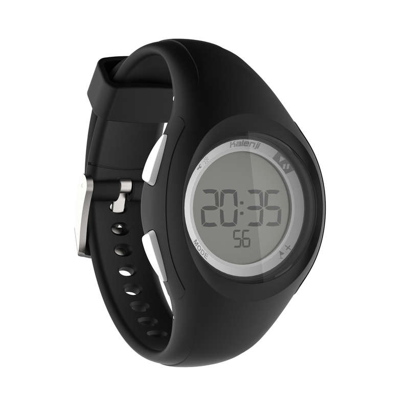ATHLLE WATCHES OR STOPWATCHE Nordic Walking - W200 S Timer Watch - Black KIPRUN - Nordic Walking