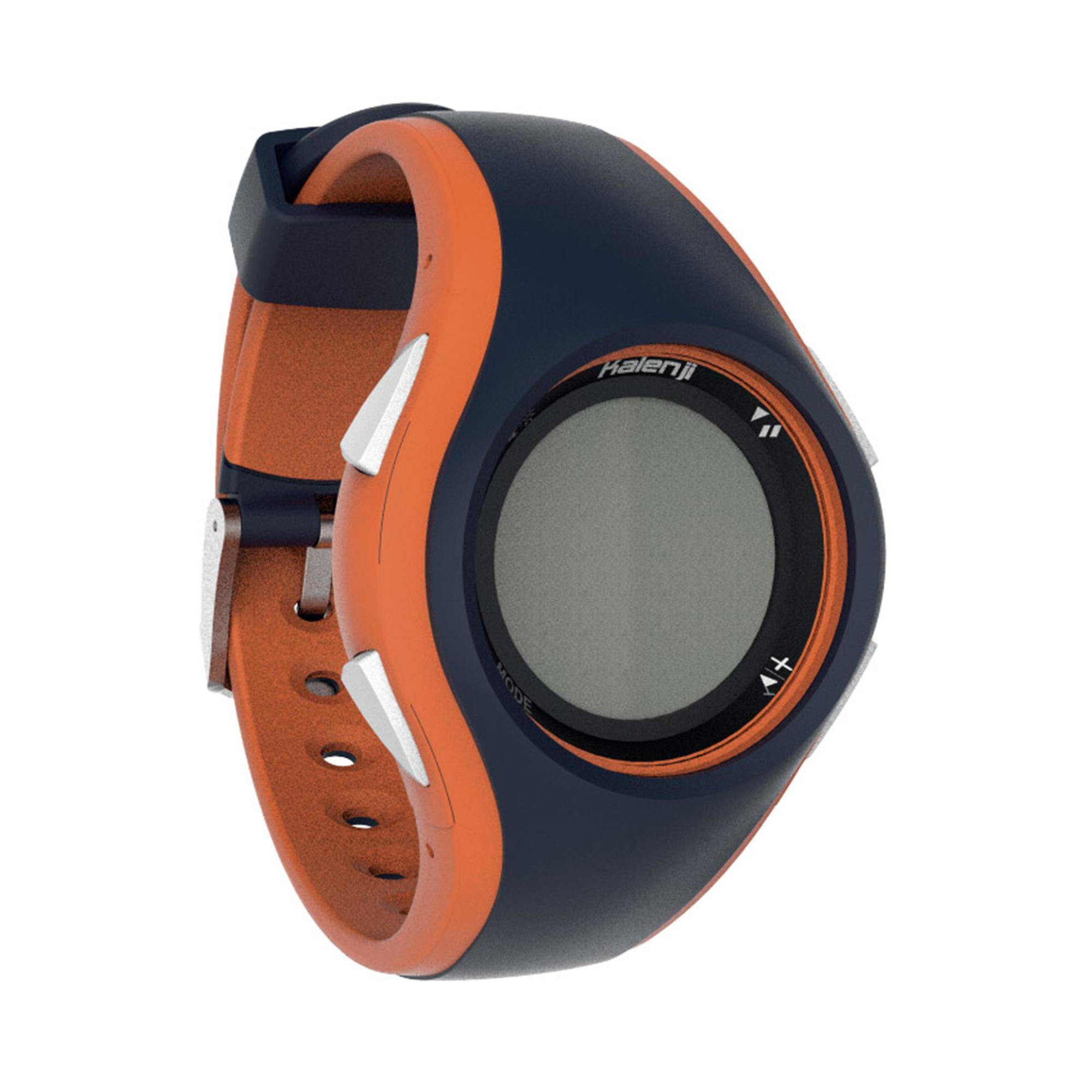 b6a356021ad Kalenji Hardloophorloge Met Stopwatch W200 M Blauw En Oranje kalenji kopen  in de aanbieding