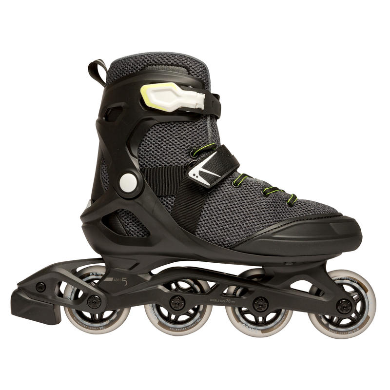 Patines fitness hombre FIT100 negro gris