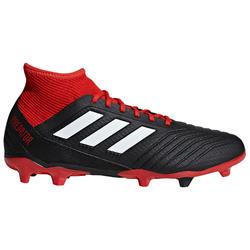 Botas de fútbol adulto Predator 3 FG negro rojo Adidas