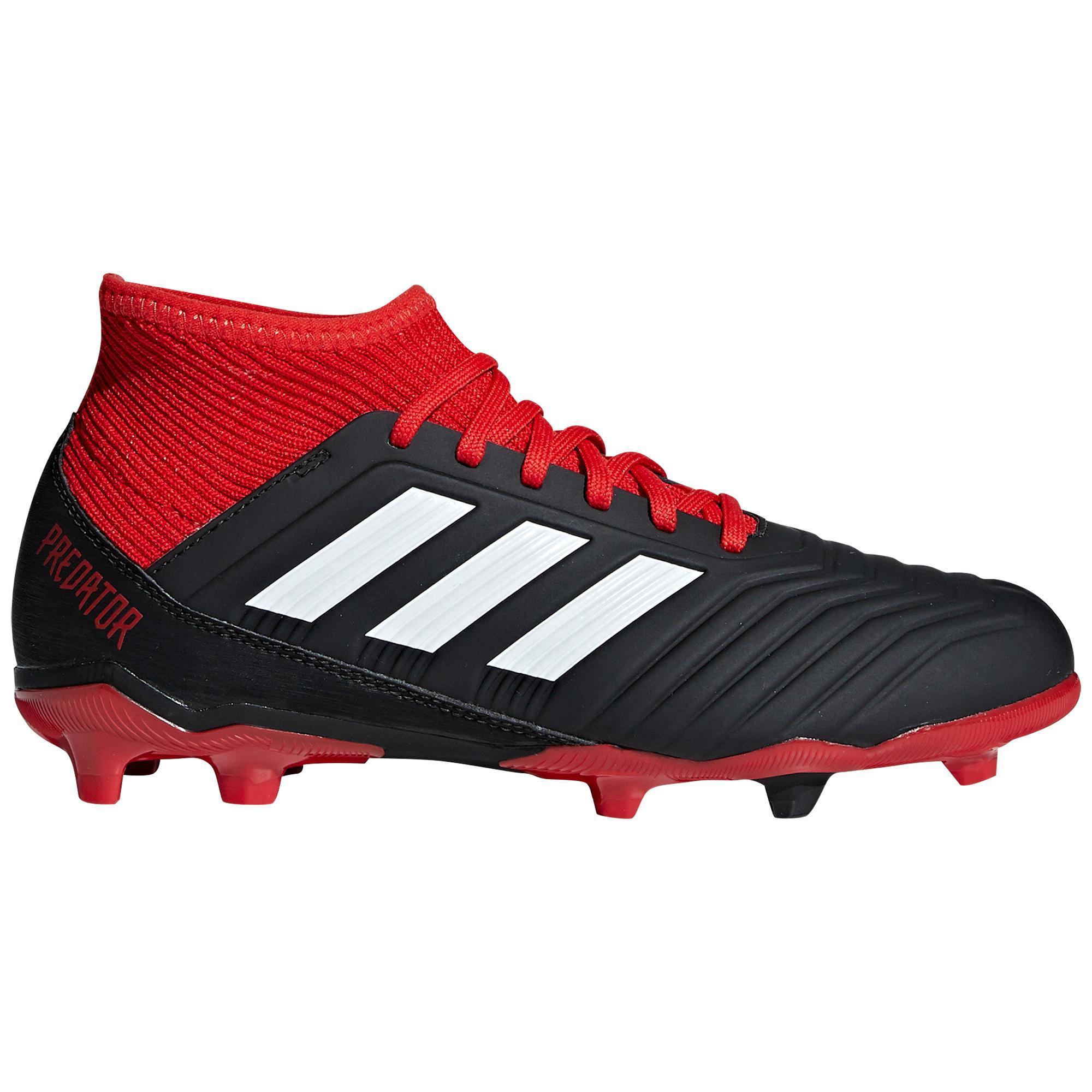 official photos daa3c 7b2d9 Botas de fútbol Adidas Predator 18.3 FG calcetín niños negro rojo