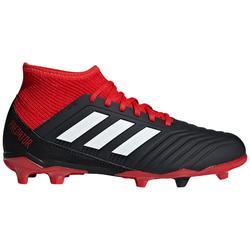 Botas de fútbol Adidas Predator 18.3 FG calcetín niños negro rojo