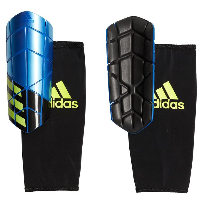 Protège tibias football adulte Adi X Pro bleu noir