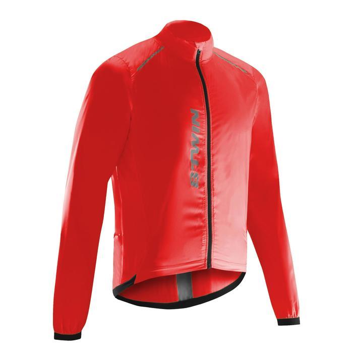 Windjack met lange mouwen Ultralight racefiets rood