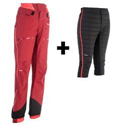 女款自由式滑雪長褲SFR 900 - 勃艮第酒紅