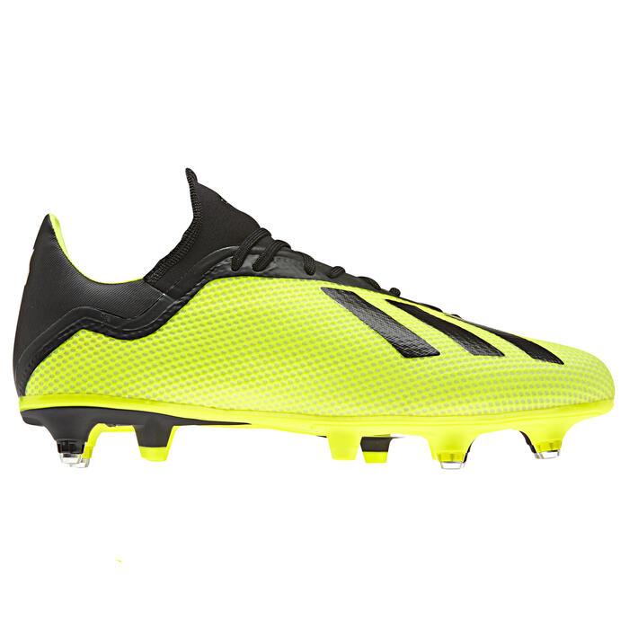 Botas de fútbol adulto X 18.3 SG amarillo
