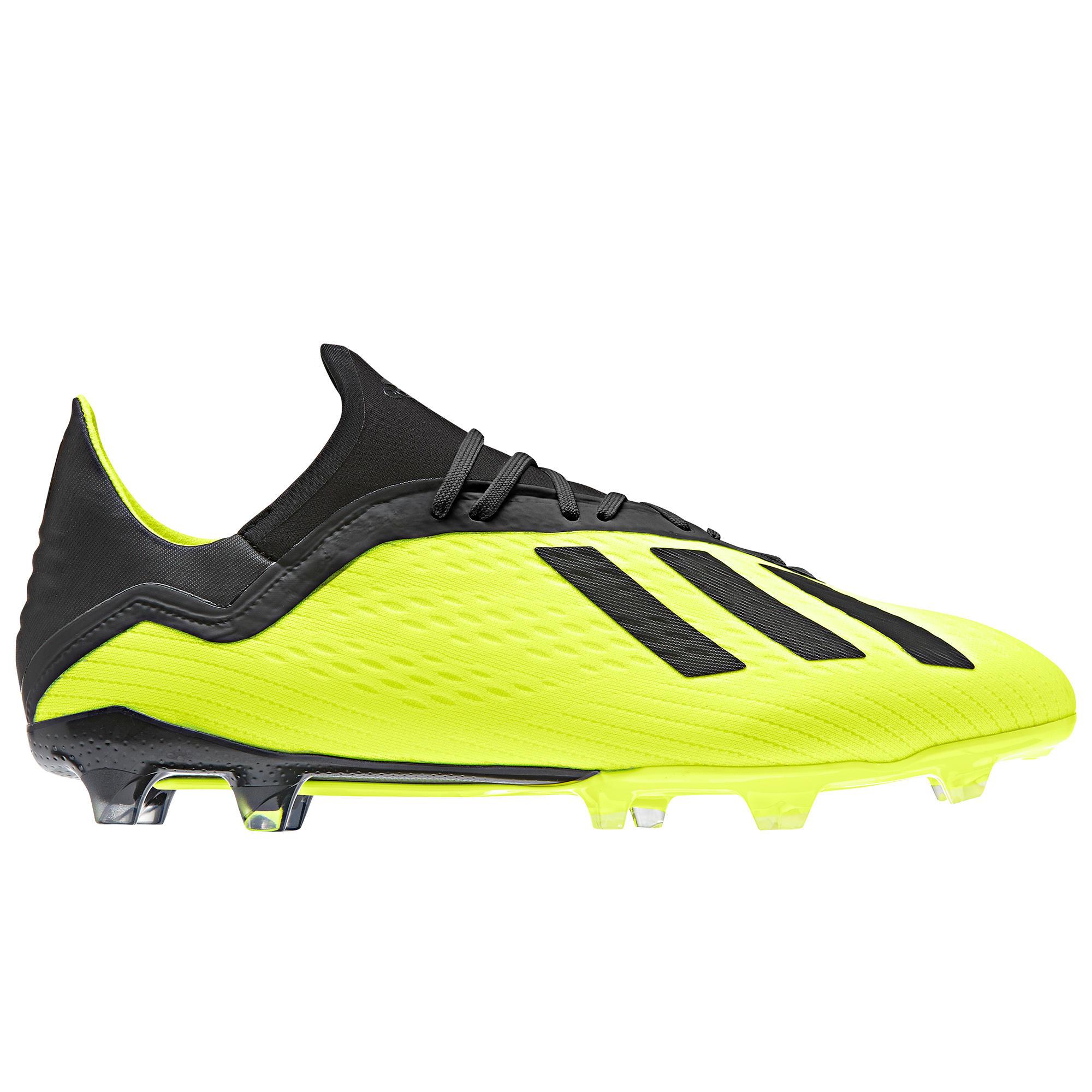 new styles b784b 0ccf1 Adidas Voetbalschoenen volwassenen X 18.2 FG geel  Decathlon