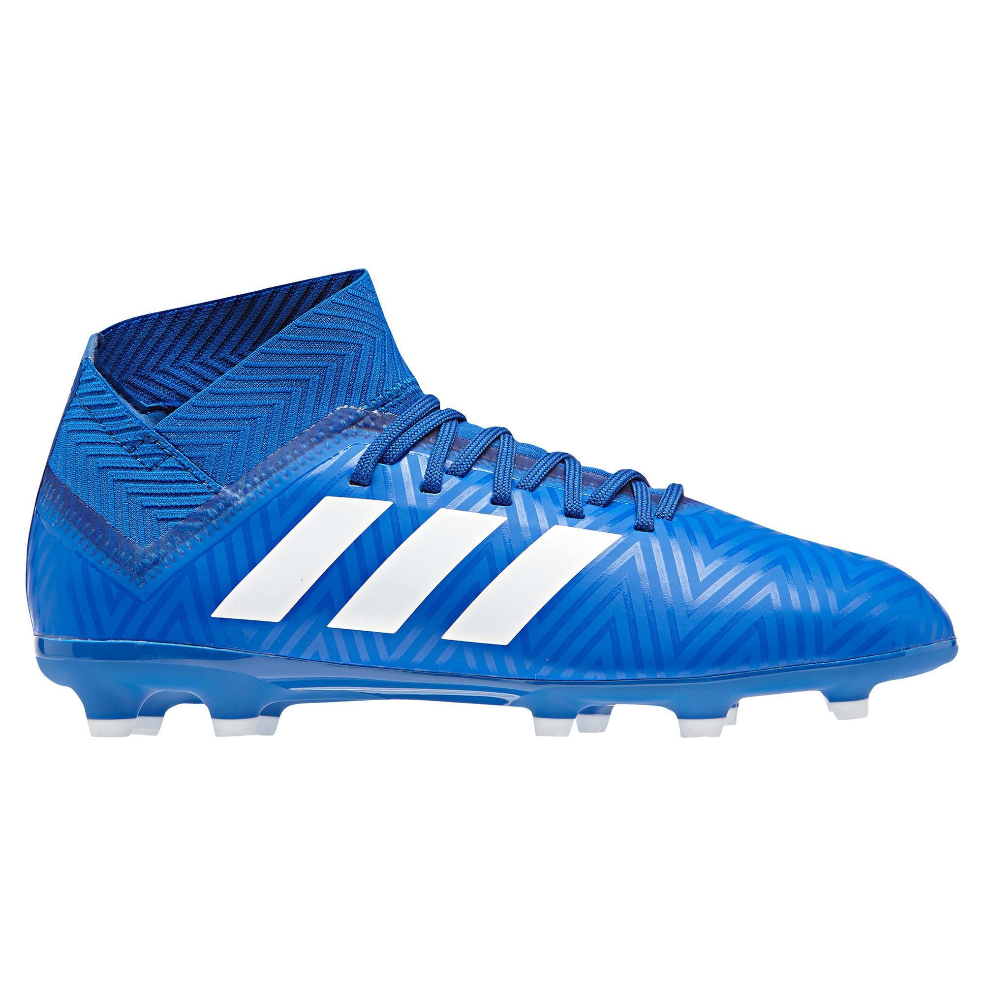 Botas de fútbol niños Nemeziz 3 FG azul Adidas  4b8d63784c01e