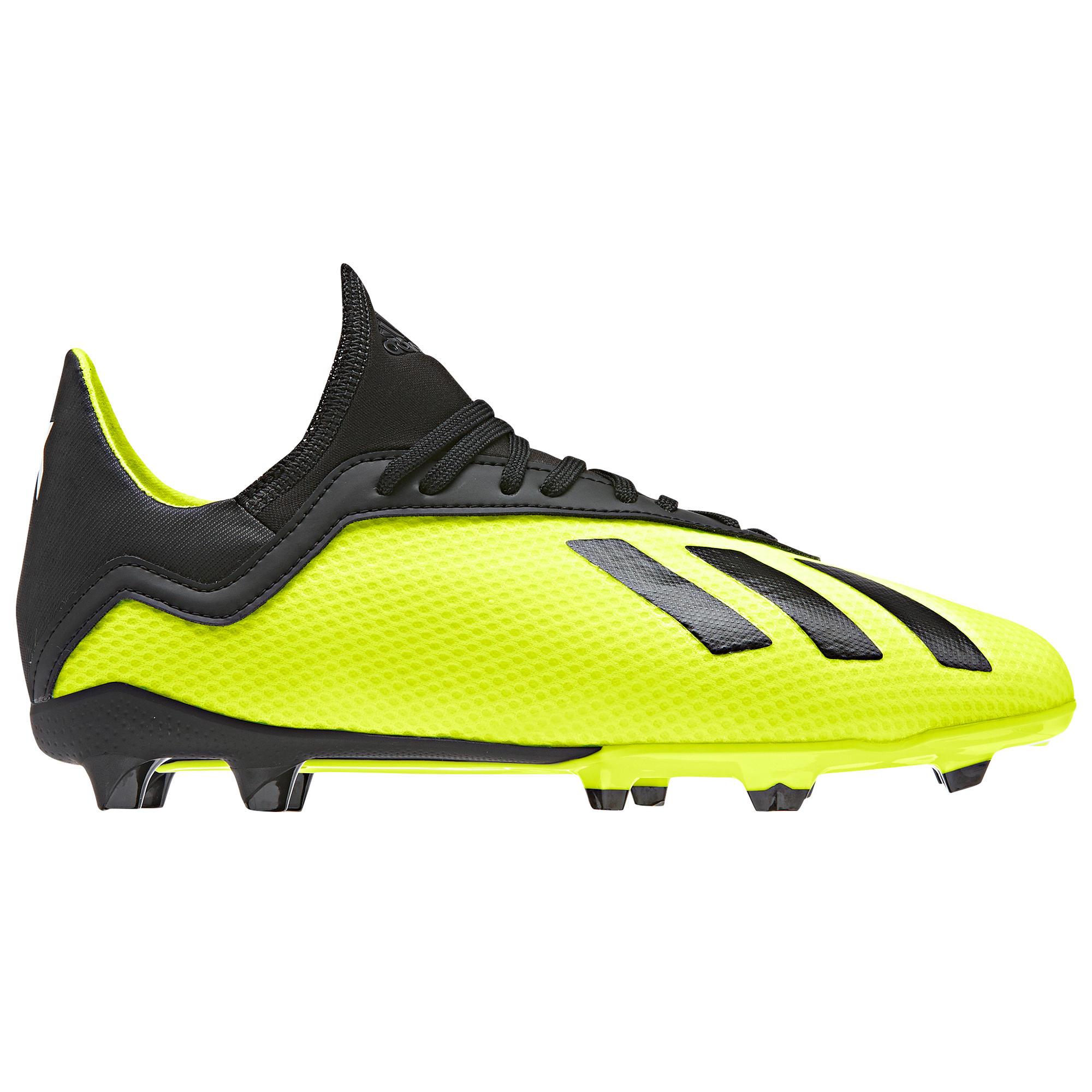 Adidas Voetbalschoenen kind X 18.3 FG geel