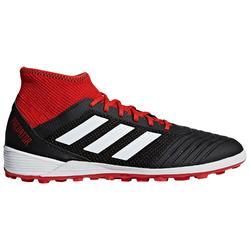 Botas de fútbol adultos Predator 3 HG negro rojo