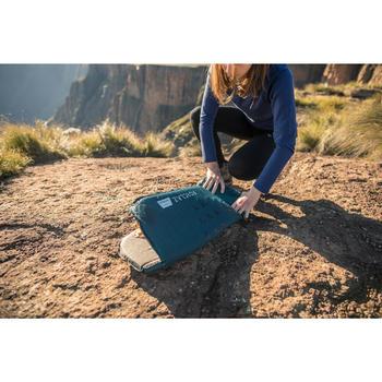 Camiseta lana merina trekking en montaña Techwool 190 manga larga mujer azul
