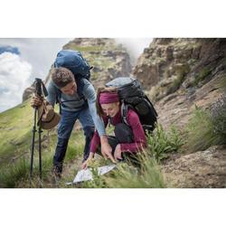 Rugzak voor bergwandelen, voor dames, Trek 700 70+10 carbongrijs