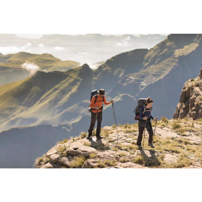 Afritsbroek voor bergtrekking Trek 500 dames donkergrijs
