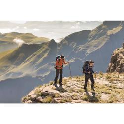 Camiseta de manga larga trekking en montaña Techwool 190 mujer gris