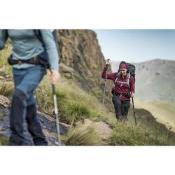 Mochila para montaña TREK 700 70+10 mujer gris carbono