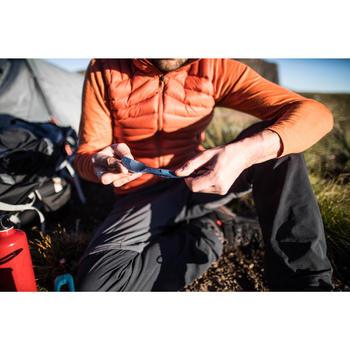 Folding Trekking Cutlery (fork/spoon) - TREK 500 - Blue Plastic