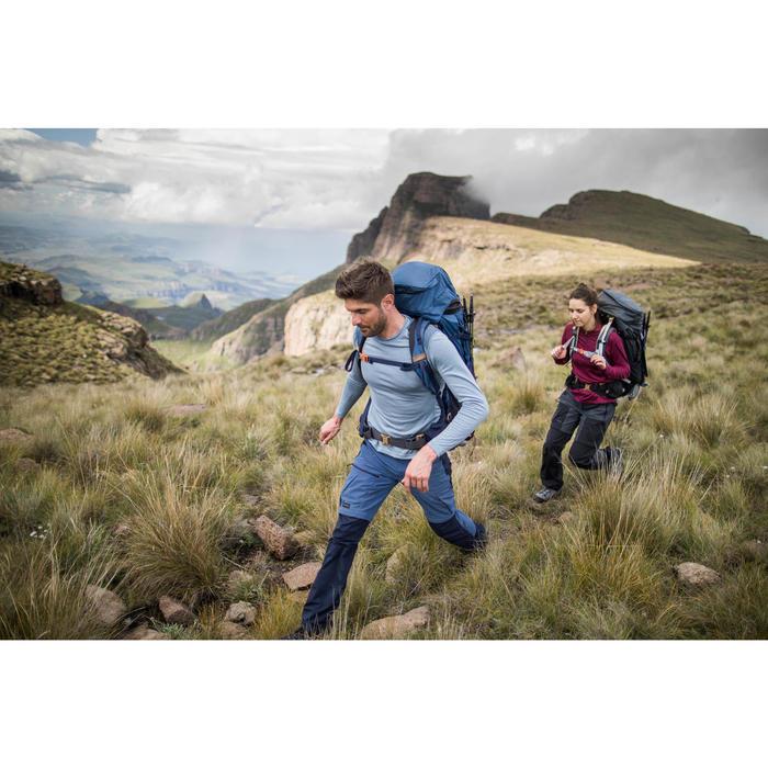 Pantalón Desmontable de Montaña y Trekking Trek 500 Mujer Negro