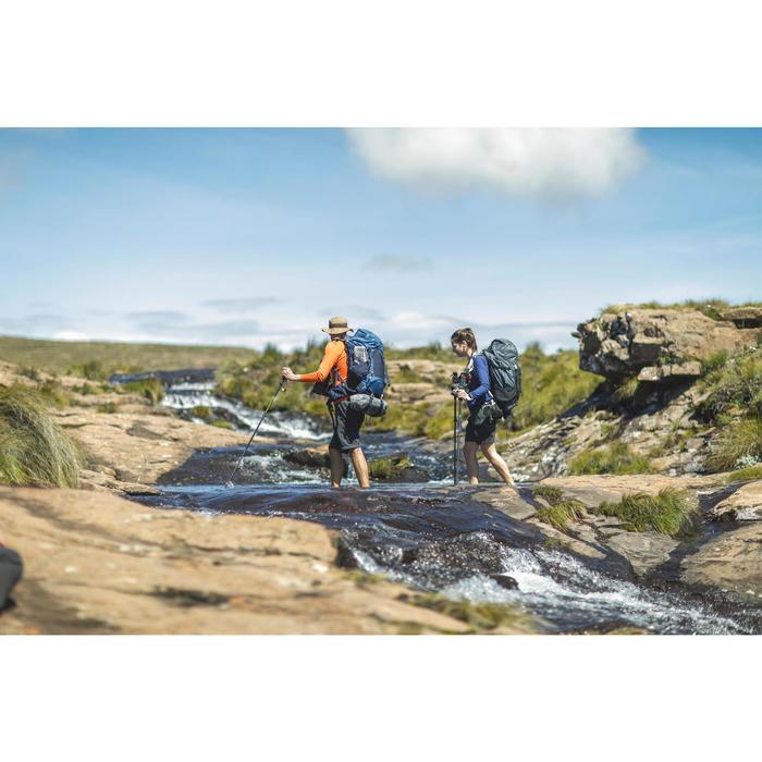 Afritsbroek voor bergtrekking Trek 500 heren donkergrijs
