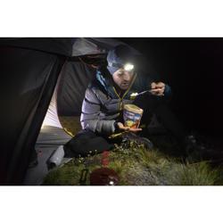 Opvouwbaar trekkingbestek (vork/lepel) Trek 500 plastic paars